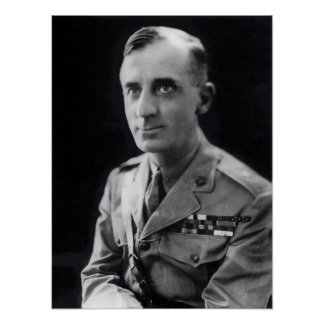 GENERAL SMEDLEY BUTLER - 2 MEDALS of HONOR Poster