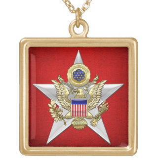 General Staff Branch Insignia Gold Plated Necklace