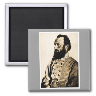 General Stonewall Jackson 2 Inch Square Magnet