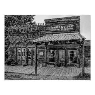 GENERAL STORE of the OLD WEST in MONTANA Poster