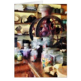 General Store With Candy Jars Card