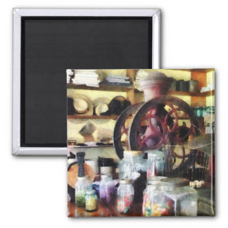 General Store With Candy Jars Refrigerator Magnet