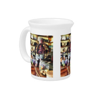 General Store With Candy Jars Beverage Pitcher