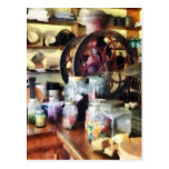 General Store With Candy Jars Postcard