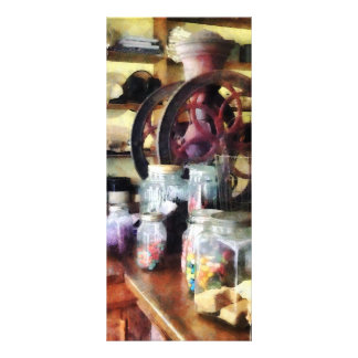 General Store With Candy Jars Rack Card