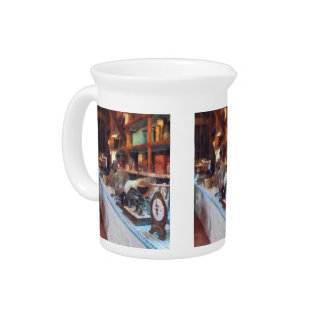 General Store With Scales Beverage Pitchers
