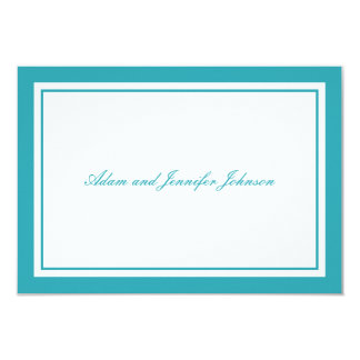 General Thank You Note Cards (Aqua Teal / White)
