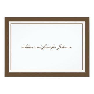 General Thank You Note Cards (Brown / White)