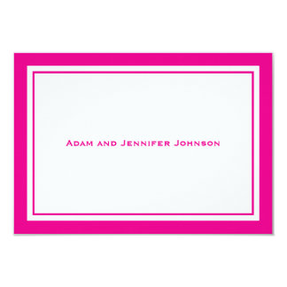 General Thank You Note Cards (Magenta Pink/White)