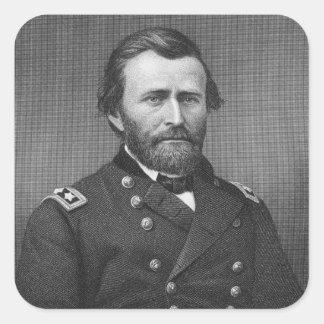 General Ulises Simpson Grant, grabado después de Colcomanias Cuadradass