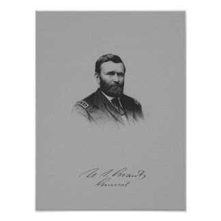 General Ulysses S. Grant And His Signature Poster