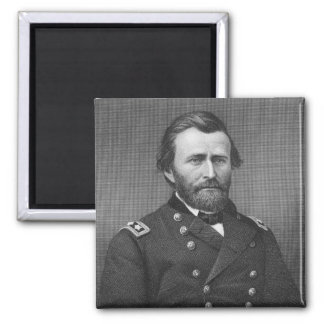 General Ulysses Simpson Grant, engraved after a da 2 Inch Square Magnet