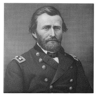 General Ulysses Simpson Grant, engraved after a da Tile
