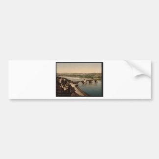General view and Benezech Bridge, Avignon, Provenc Bumper Sticker
