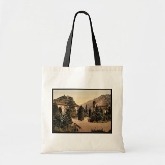General view, Arco, Garda, Lake of, Italy vintage Canvas Bags