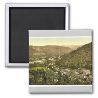 General view, Bettws-y-Coed (i.e. Betws), Wales ra 2 Inch Square Magnet