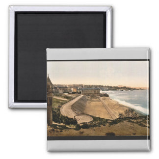 General view, Biarritz, Pyrenees, France vintage P 2 Inch Square Magnet