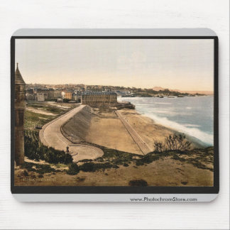 General view, Biarritz, Pyrenees, France vintage P Mouse Pad