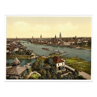General view, Bremen, Germany classic Photochrom Postcard