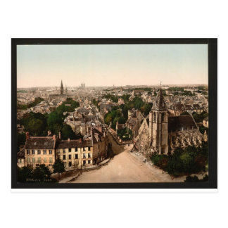 General view, Caen, France Postcard
