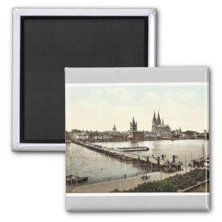 General view, Cologne, the Rhine, Germany classic Magnet