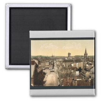 General view, Dijon, France vintage Photochrom Magnet