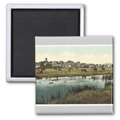 General view, Dorchester, England classic Photochr Fridge Magnets