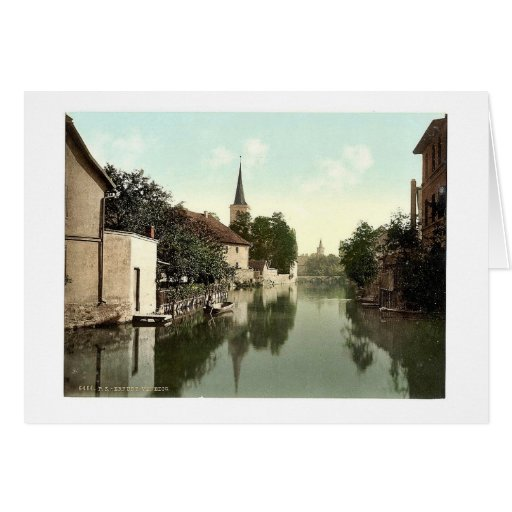 General view, Erfurt, Thuringia, Germany classic P Card