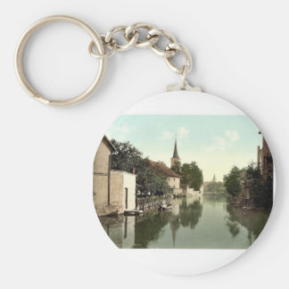 General view, Erfurt, Thuringia, Germany classic P Key Chain