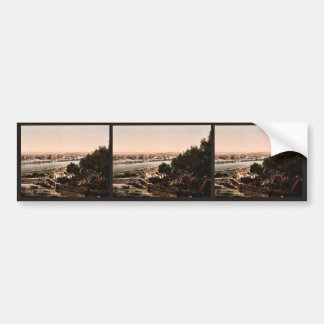 General view from Beaucaire Castle, Tarascon, Pyre Car Bumper Sticker