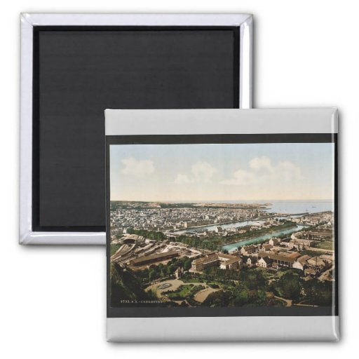 general view from fort du roule cherbourg france 2 inch square magnet zazzle. Black Bedroom Furniture Sets. Home Design Ideas