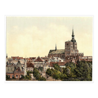 General view, from Knieperdamm, showing warm baths Postcard