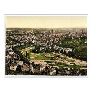 General view from Neroberg, Wiesbaden, Hesse-Nassa Postcard