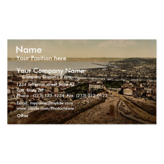 General view from Notre Dame de la Garde Marseill Business Cards