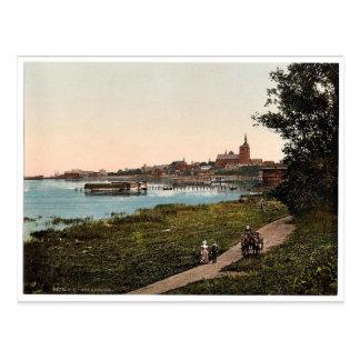 General view, from Promenade, Stralsund, Pommerain Postcard