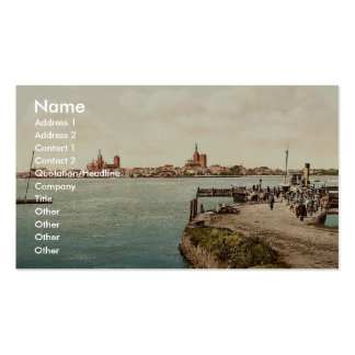 """General view, from the """"Alte Fahre"""", Stralsund, Po Double-Sided Standard Business Cards (Pack Of 100)"""