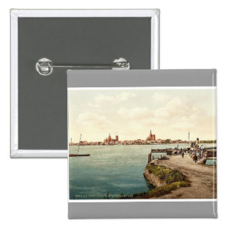 """General view, from the """"Alte Fahre"""", Stralsund, Po Buttons"""