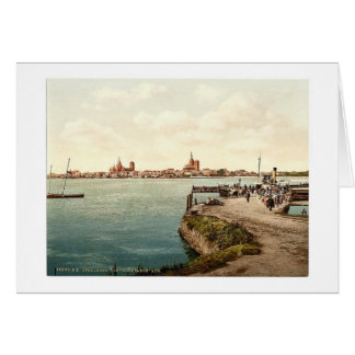 """General view, from the """"Alte Fahre"""", Stralsund, Po Greeting Card"""