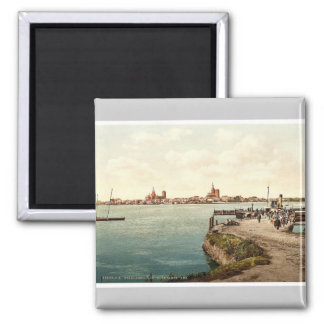 """General view, from the """"Alte Fahre"""", Stralsund, Po Magnet"""