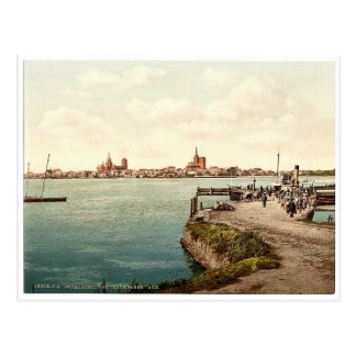 """General view, from the """"Alte Fahre"""", Stralsund, Po Postcard"""