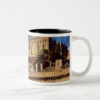 General view from the base of the ramparts Two-Tone coffee mug