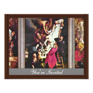 General View From The Cross Triptych By Rubens Invitation