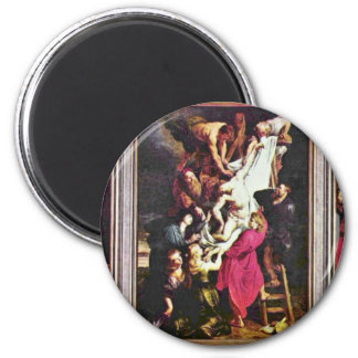 General View From The Cross Triptych By Rubens Magnets