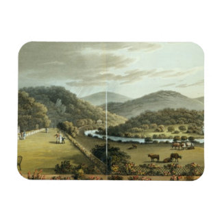 General View from the South and East Fronts of the Rectangular Photo Magnet