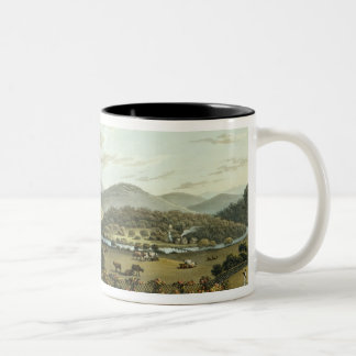 General View from the South and East Fronts of the Two-Tone Coffee Mug