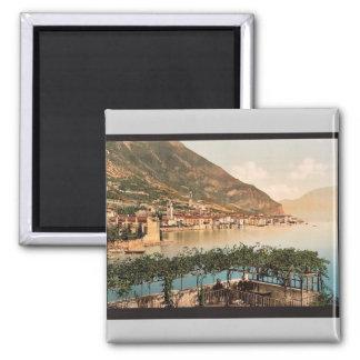 General view, Gargnano, Garda, Lake of, Italy vint Refrigerator Magnet
