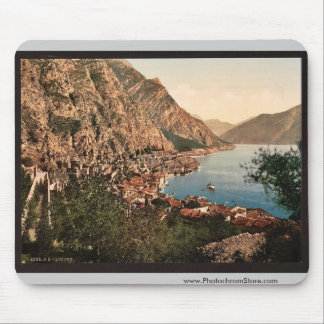 General view, Limone, Garda, Lake of, Italy vintag Mouse Pad