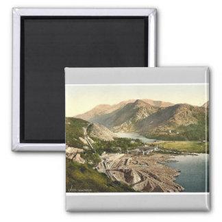 General view, Llanberis, Wales rare Photochrom Refrigerator Magnet
