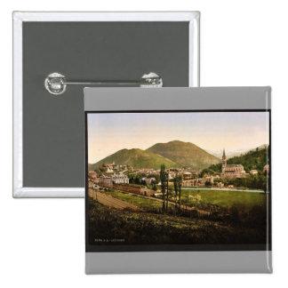 General view Lourdes Pyrenees France vintage Ph Pinback Buttons