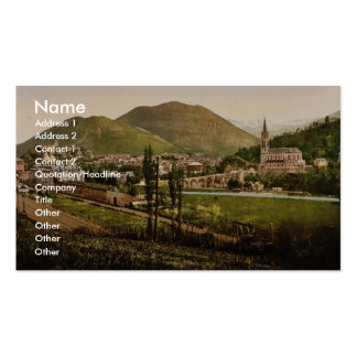 General view, Lourdes, Pyrenees, France vintage Ph Double-Sided Standard Business Cards (Pack Of 100)